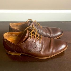 Gordon Rush Brown Leather Lace Up Shoes Mens 8.5